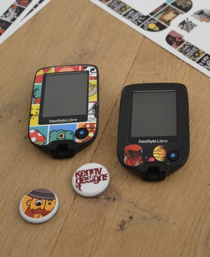 Robot Sticker for FreeStyle Libre Reader 1 and 2