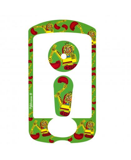 Backhoe Sticker for the Omnipod® PDM